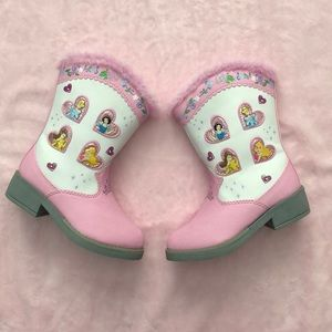 Disney Princess cowboy style light-up boots